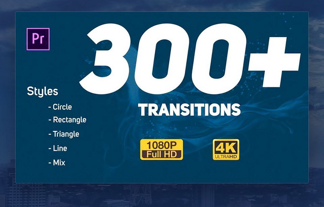 300+ Premiere Pro Transitions Pack