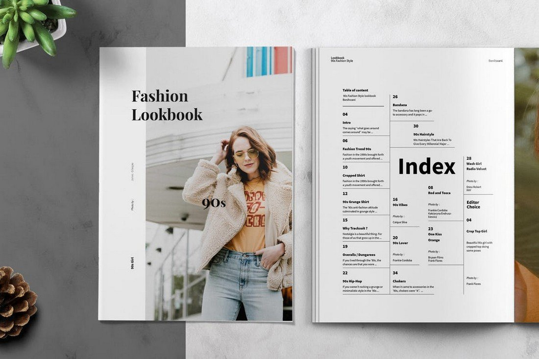 90s Fashion Lookbook Affinity Publisher Template