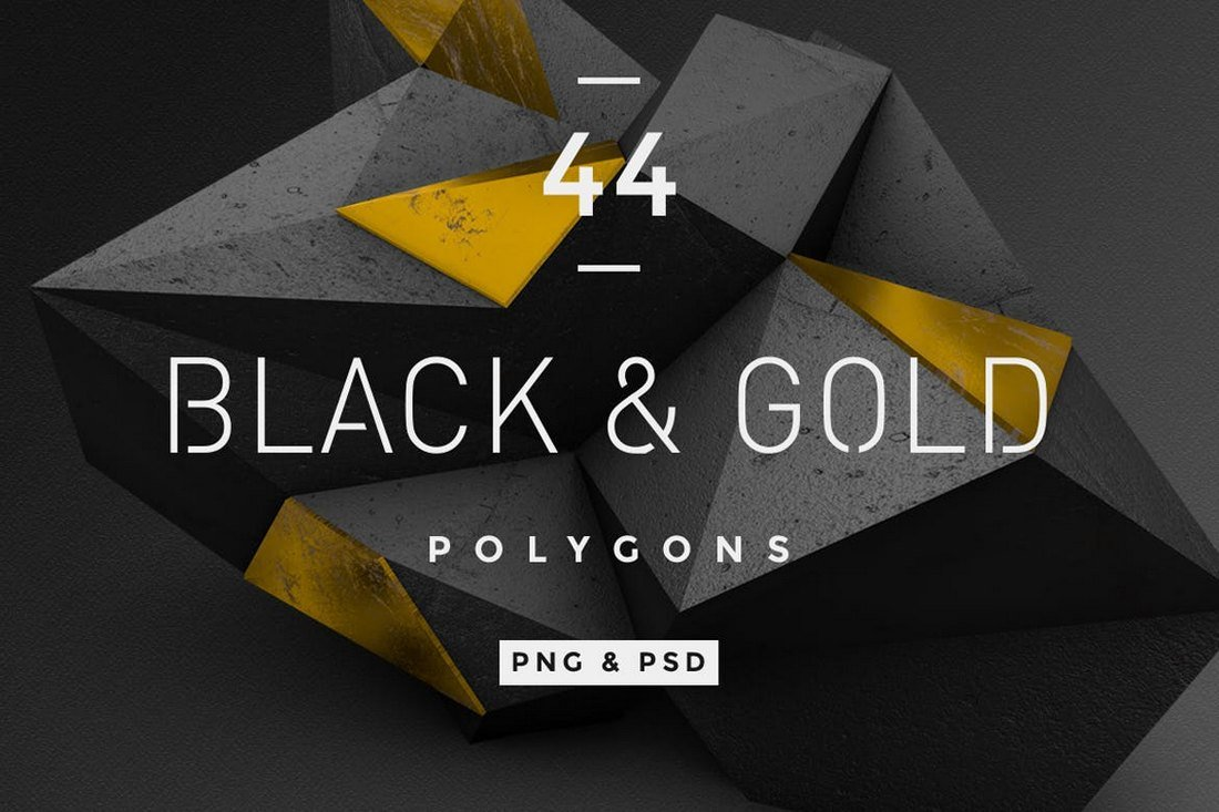 Black and Gold Polygon Patterns