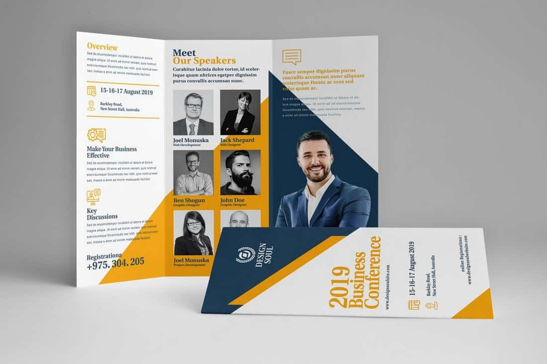 Business Conference Trifold Brochure