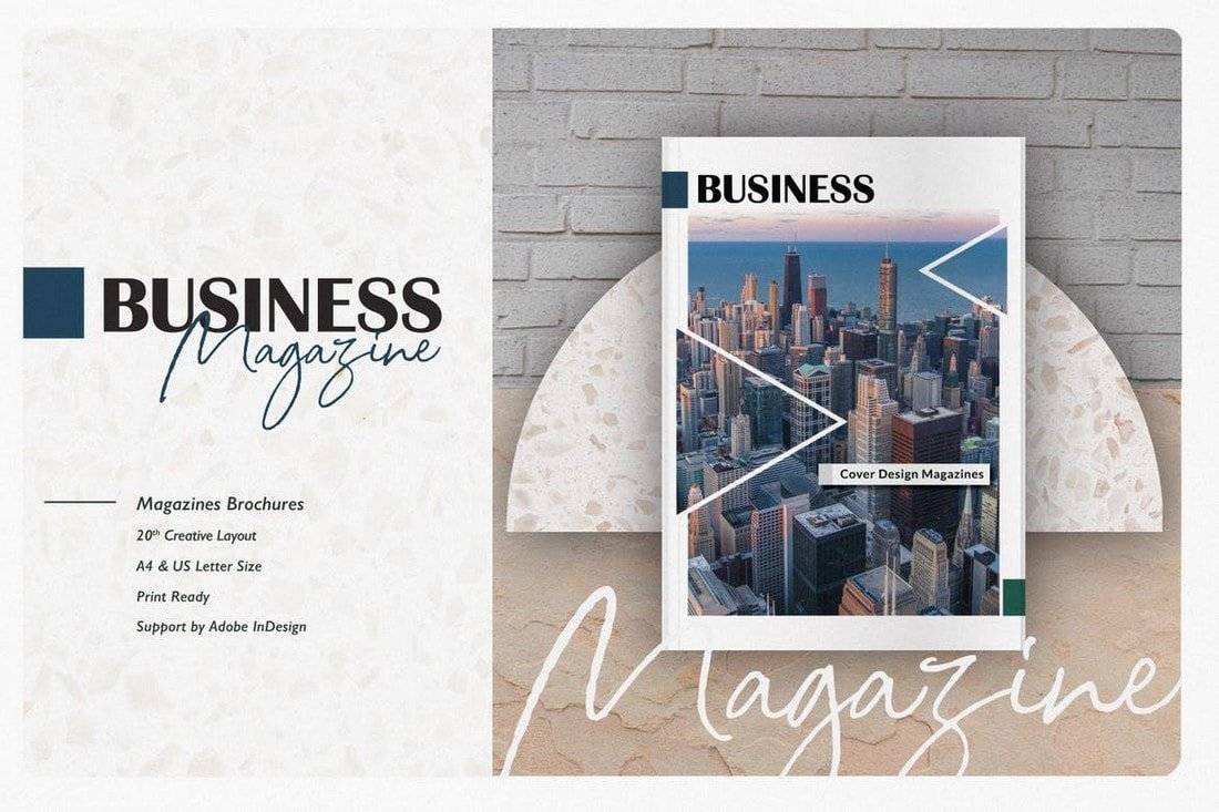 Business Magazine InDesign Template