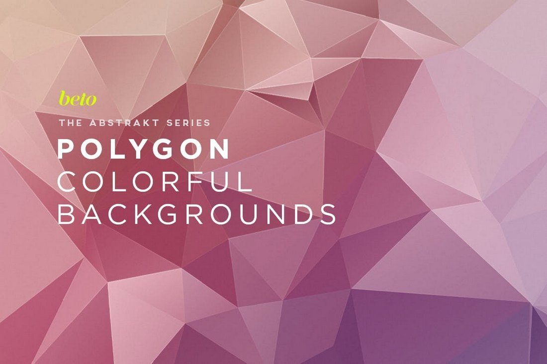 Colorful Polygon Abstract Backgrounds V12
