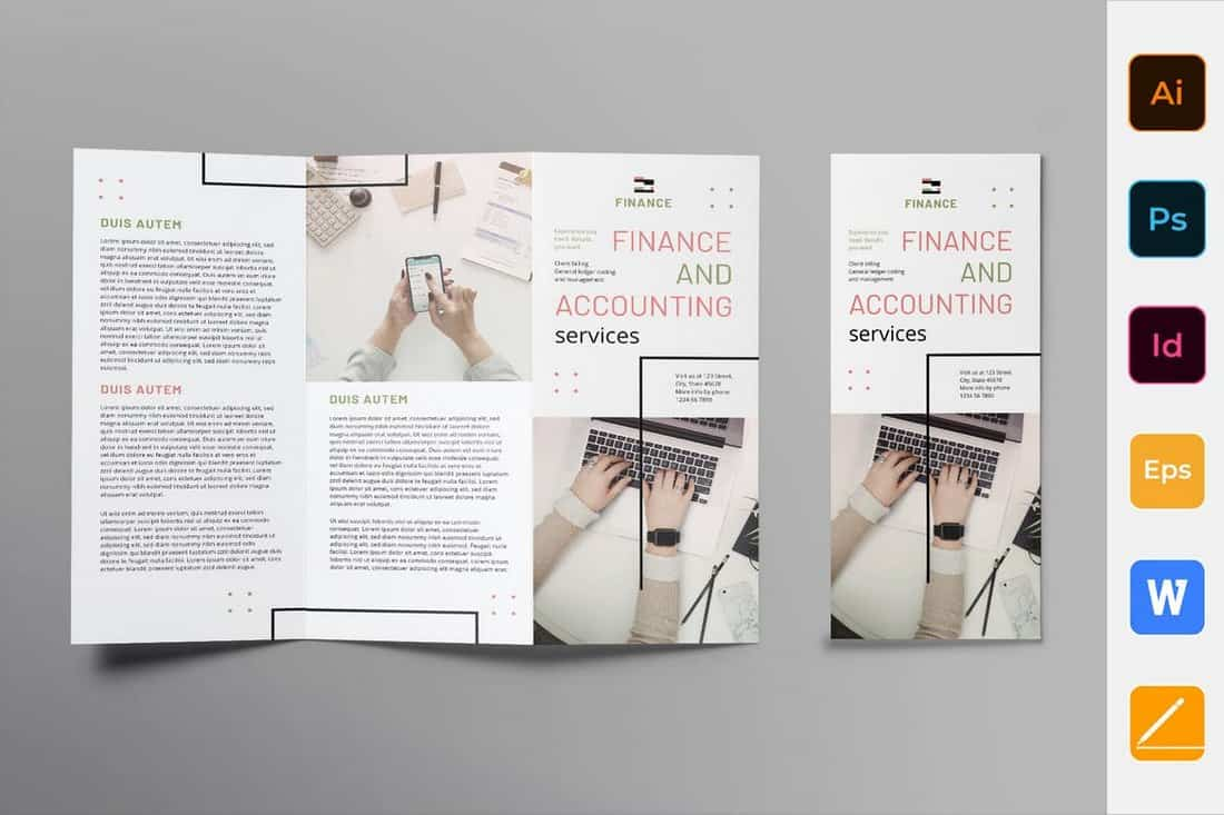 Finance and Accounting Trifold Brochure