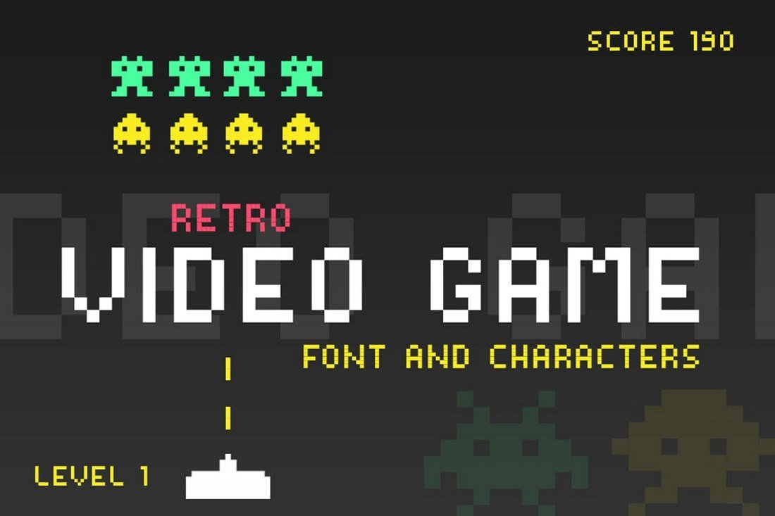 Video Game YouTube Font