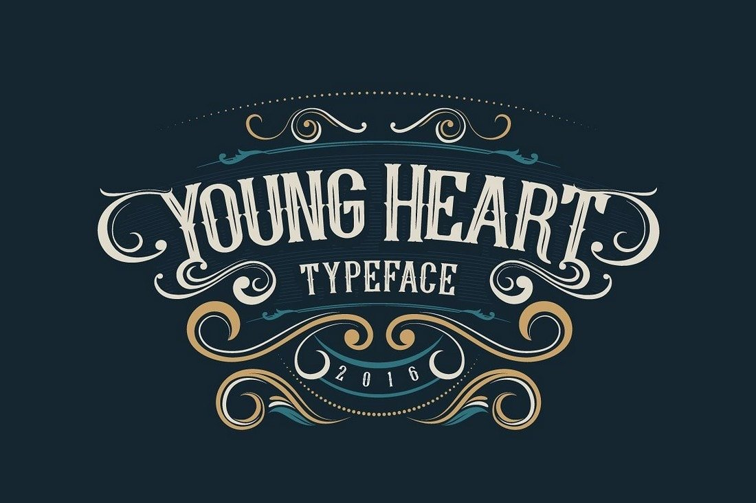 Young Heart - Free Tattoo Font